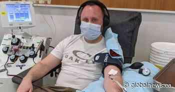 Saskatoon man recovered from COVID-19 donates plasma for coronavirus treatment trial