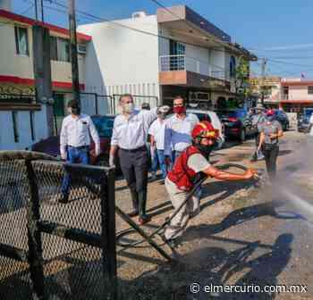 Dan Mantenimiento a Fuentes de la Glorieta Miramar - El Mercurio de Tamaulipas