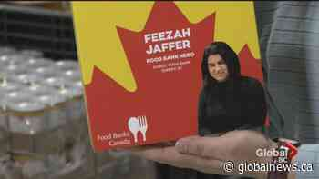 Surrey Food Bank boss honoured with special cereal box cover