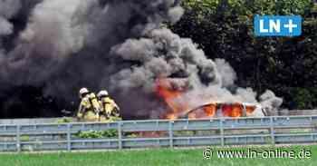 Autobahn - Pkw brennt unter der Stromleitung des E-Highway - Lübecker Nachrichten