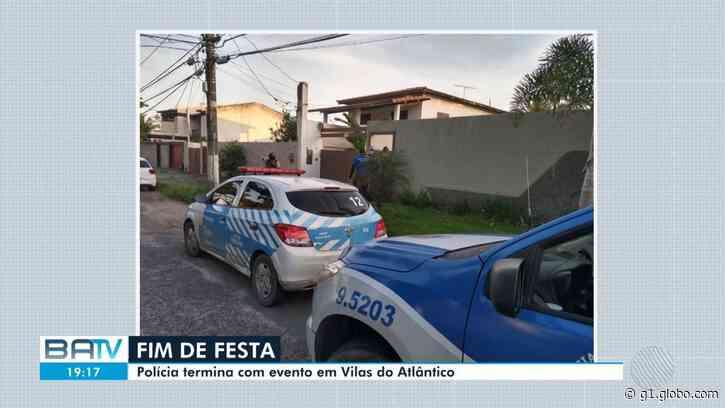 """Após """"Covidfest"""", Polícia Militar encerra nova festa particular em Lauro de Freitas - G1"""