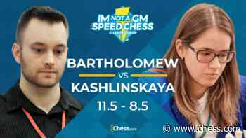 Bartholomew Wins IM Not A GM Speed Chess Championship - Chess.com