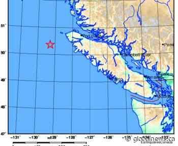 Magnitude 4.9 earthquake strikes off Vancouver Island - Global News