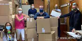 Défi réussi à Braine-le-Comte: 22 000 masques distribués en une journée - dh.be