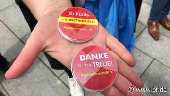 """#gemeinsamstark: Buttonaktion """"Ich kaufe in Gunzenhausen"""" - BR24"""