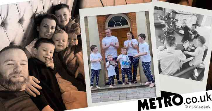 Inside Coleen and Wayne Rooney's cosy Cheshire mansion where they're in lockdown with sons