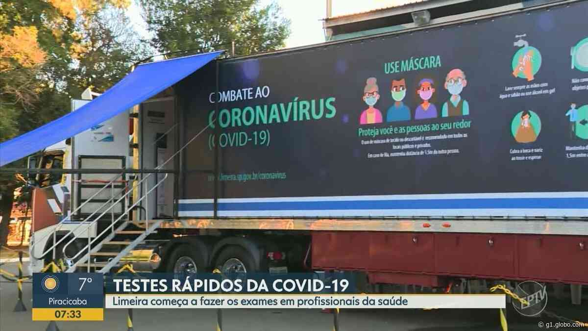 Saúde de Limeira inicia testes rápidos de Covid-19 em profissionais da saúde da cidade - G1