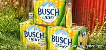 Busch Beer unveils corn cans, NASCAR tie-in for farmer relief