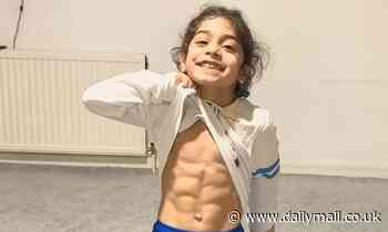 The six-year-old with a six pack! Young boy's muscled physique has earned him millions of fans