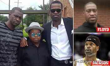 Ex-NBA star Stephen Jackson tearfully mourns 'twin' George Floyd