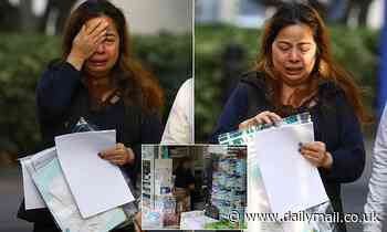 Baby formula racket 'key player' sobs as she is released on bail