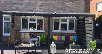 Family transforms patio into fun, kid-friendly abode in £700 DIY project