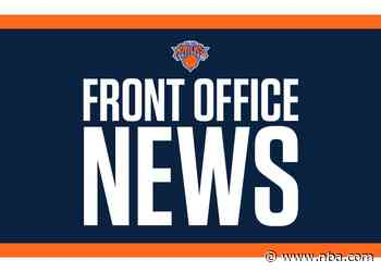 New York Knicks Announce Front Office Hirings