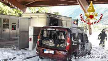 Vittorio Veneto, auto in fiamme al casello nord della A27 durante il pedaggio, nessun ferito ma danni ingenti - Qdpnews.it - notizie online dell'Alta Marca Trevigiana