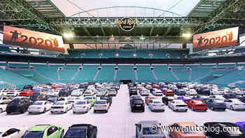 Hard Rock Stadium's drive-in theater allows cars on the field (sorta)