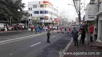 Comerciantes fazem protesto na Avenida Norte Sul na Serra - A Gazeta ES