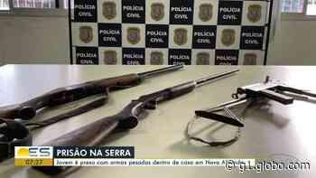 Jovem é preso com armas pesadas em casa na Serra, no ES - G1