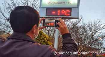 Serra Catarinense registra mais um amanhecer gelado abaixo de 0ºC e com geada - Agência de Notícias São Joaquim Online