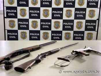 Polícia encontra armas e munições em casa de Nova Almeida, Serra - A Gazeta ES