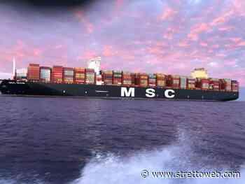 Reggio Calabria, grande festa al porto di Gioia Tauro per l'arrivo della nave Msc Sixin [VIDEO] - Stretto web