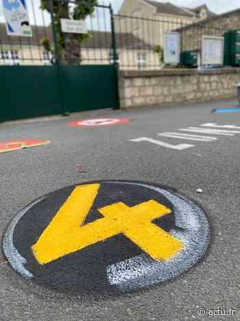 Nogent-sur-Oise : des graffs pour symboliser la distanciation physique aux abords des écoles - actu.fr