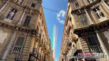 VIDEO   Da Codogno a Palermo: le Frecce disegnano un Tricolore che abbraccia l'Italia intera - PalermoToday