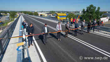 B10 Ulm Neu-Ulm: Ausbau der Europastraße auf Neu-Ulmer Stadtgebiet abgeschlossen - SWP