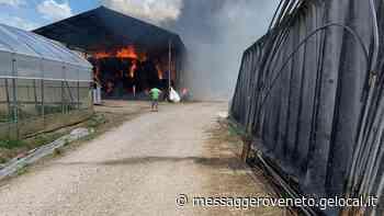 In fiamme un fienile a Pocenia, lambita una stalla - Il Messaggero Veneto