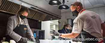 La Tablée des Chef: Pierre Karl Péladeau et France Lauzière mettent la main à la pâte