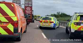 Live A120 traffic: Road shuts as air ambulance lands at serious three-vehicle crash - Essex Live