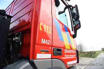 Steenweg afgesloten door brandend voertuig (Bertem) - Het Nieuwsblad