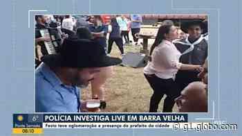 Vídeo mostra prefeito de Barra Velha em festa durante quarentena - G1