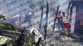 Se incendia casa en Catemaco - Diario Eyipantla