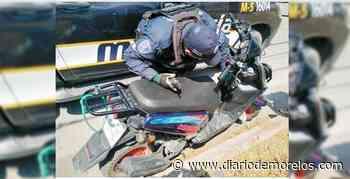 Cae sujeto con una moto robada en Emiliano Zapata - Diario de Morelos
