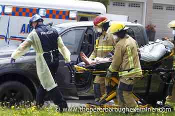 Man hurt after pickup truck crashes in Peterborough - ThePeterboroughExaminer.com