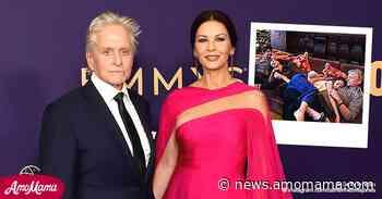 Catherine Zeta-Jones Shares Rare Throwback Photo with Husband Michael Douglas and Their Kids - AmoMama