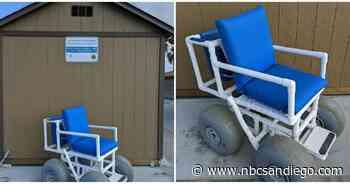 Oceanside Lifeguards Recieve 4 New Beach Wheelchairs - NBC 7 San Diego