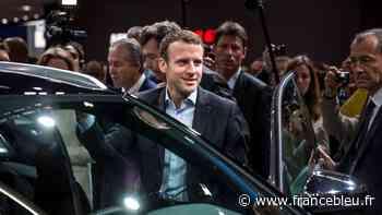 Emmanuel Macron présente son plan automobile depuis l'usine Valéo d'Etaples, dans le Pas-de-Calais - France Bleu