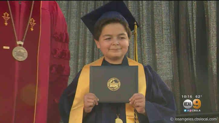 La Mirada 13-Year-Old Celebrates College Graduation With Front Yard Ceremony