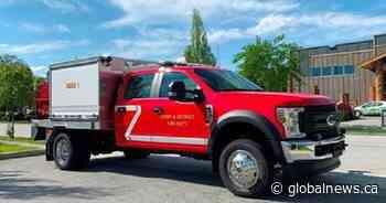 Lumby, B.C., adds bush truck to fire department's lifesaving fleet - Global News