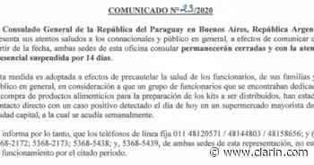 Cerraron por dos semanas el consulado paraguayo en Buenos Aires, por un caso de coronavirus - Clarín
