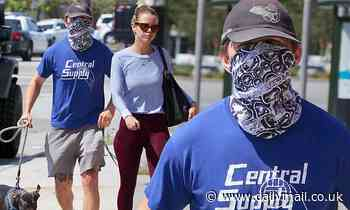 Shia LaBeouf takes extra care as he completely covers his face with mask - Daily Mail