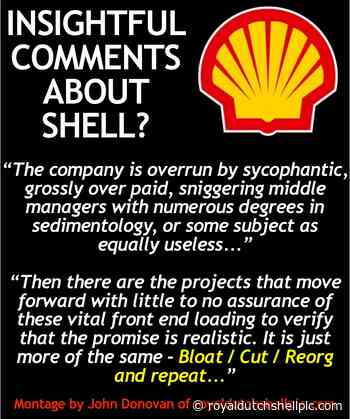 Shell overrun by sycophantic, grossly over paid, sniggering middle managers? - Royal Dutch Shell plc .com