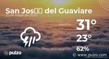 El clima para hoy en San José del Guaviare, 25 de mayo de 2020 - Pulzo
