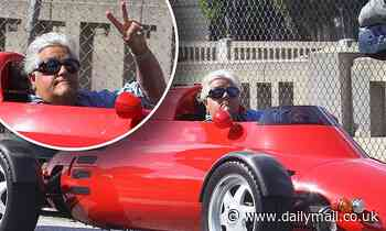 Jay Leno gets heads turning as he takes a Memorial Day cruise in his flashy lightweight car - Daily Mail