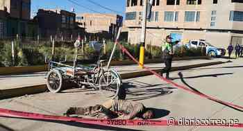 Juliaca: Humilde triciclista fue hallado sin vida en la vía pública - Diario Correo