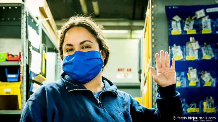 Portland apparel maker turns United Airline's old uniforms into face masks for medical workers