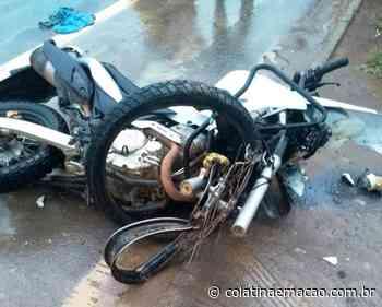 Acidente na BR 259 em Baixo Guandu-ES, deixa motociclista ferido - Colatina em Ação
