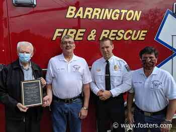 Barrington honors EMS workers for 'care, support and dedication' - Foster's Daily Democrat
