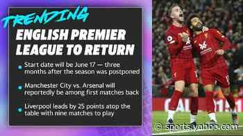 English Premier League to return June 17